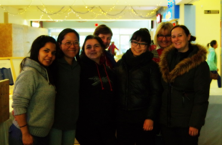 Jane Drew (right) with ISIP Fort St. John staff and volunteers.